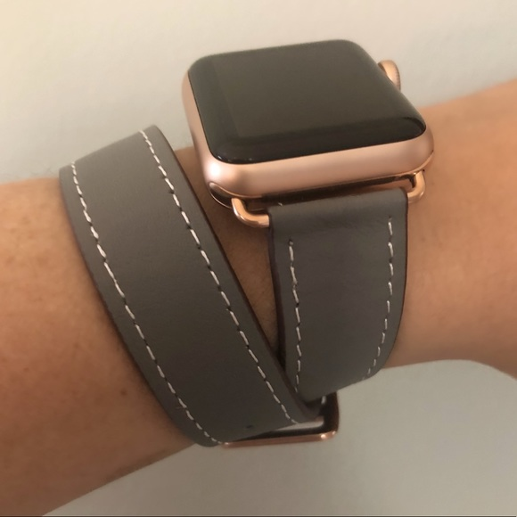 Other Rose Gold Gray Apple Watch Double Tour Band Poshmark